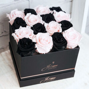 Je t'aime Eternity Roses Black Box Medium